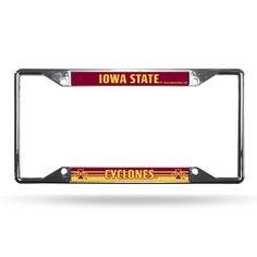 Iowa State Cyclones License Plate Frame Chrome EZ View