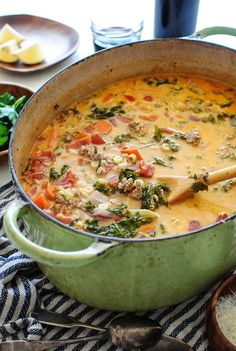 Creamy Sausage and Kale Soup