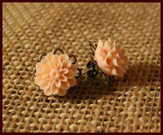 Resin Flower Earrings by TKDShop on Etsy, $5.99