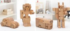 Transformers Robots Wooden Toy