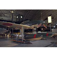 The last surviving Aichi Seiran Japanese Seaplane on display at the Smithsonian Udvar-Hazy Museum near Washington, DC.