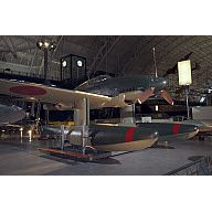 The last surviving Aichi Seiran Japanese Seaplane on display at the Smithsonian Udvar-Hazy Museum near Washington, DC.