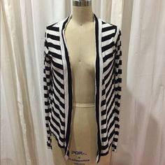 Cotton On striped cardigan S Super soft 100% viscose (natural fiber) cardigan . Black and white stripes. Draped fit- no closure. Size S Cotton On Tops