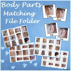 Autism Activity - Body Parts Matching File Folders Autism Activities, Winter Activities, Classroom Activities, Primary Science, Science Fun, Teaching Kindergarten, Teaching Resources, Teaching Ideas, Improve Vocabulary