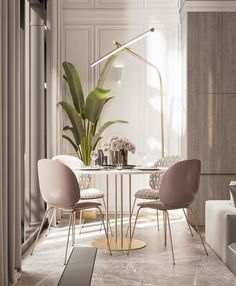 Get inspired by these dining room decor ideas! From dining room furniture ideas, dining room lighting inspirations and the best dining room decor inspirations, you'll find everything here! Design Living Room, Dining Room Design, Living Room Decor, Dining Rooms, Dining Tables, White Round Dining Table, Kitchen Dinning, Dining Decor, Design Room