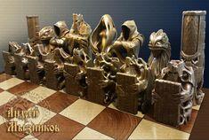 Шахматы для Елены (общий вид) | Резьба по дереву, кости и камню