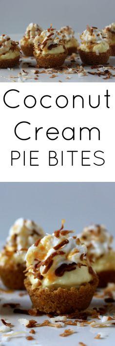 coconut cream pie bites - an easy and delicious dessert