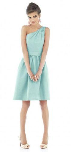Short bridesmaid dress- wedding colour