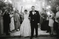 Sometimes black & white perfectly captures the moment | Bella Collina Weddings