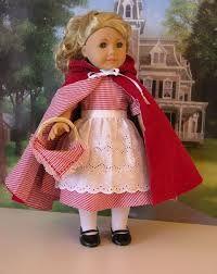 Image result for homemade little red riding hood dress for American girl doll