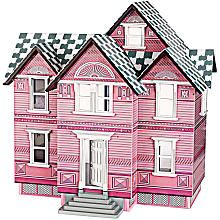 Melissa & Doug Deluxe Pink Wooden Victorian Dollhouse