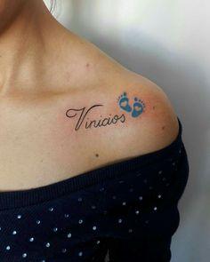 50 name tattoos for women - Tatoo - Mommy Tattoos, Sons Name Tattoos, Baby Feet Tattoos, Name Tattoos For Moms, Baby Name Tattoos, Tattoos With Kids Names, Mother Tattoos, Tattoos For Daughters, Tattoos For Women Small
