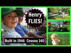 Henry FLIES with Grandpa in a Small Plane | Cessna 140