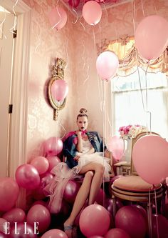 visual optimism; fashion editorials. elle canada september 2015. #Inspiration #LesliDale #Pink #Girly #Editorial