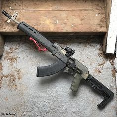 Wasr10 AK by Century Arms with a Lantac USA Drakon, Rifle Dynamics stock adaptor, and MagPul stock.
