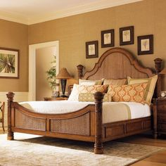 Shop this tommy bahama island estate round hill bedroom set from our top selling Tommy Bahama bedroom sets. LuxeDecor is your premier online showroom for bedroom furniture and high-end home decor. Wicker Bedroom, Bedroom Furniture Sets, Bed Furniture, Bedroom Sets, Shabby Chic Furniture, Bedding Sets, Furniture Online, Furniture Stores, Pine Bedroom
