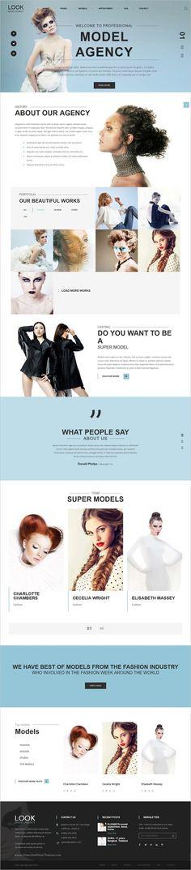 Model Agency Flash CMS Template   Model agency
