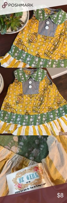 Be Girl Boutique Bird Cage Tunic Be Girl Boutique Bird cage Tunic. Size 18m. Was marketed as a dress but Just a tad bit too short to be a dress in my opinion. My daughter wore it once. Beautiful colors! Preloved with lots of life left! Smoke free and pet free home. Feel free to check out my other baby and toddler items and bundle for a greater discount Be Girl Shirts & Tops