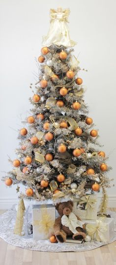 Silver, Gold, and Copper Christmas Tree in this Week's Drab to Fab Column!