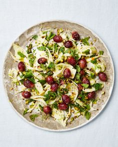 Fennel Salad with Pistachios and Oven-Dried Grapes