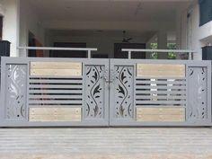 Iron Main Gate Design, Home Gate Design, Gate Wall Design, House Main Gates Design, Front Gate Design, Main Door Design, House Design, Modern Steel Gate Design, Gate Designs Modern
