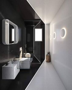 25 Trendy Bath Room Black And White Mosaic Sinks Yellow Paint Colors, Room Paint Colors, Wall Colors, Grey Wall Color, Sink Organizer, Floating Vanity, Minimalist Bathroom, Wet Rooms, Small Storage