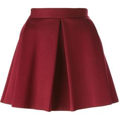 P.A.R.O.S.H. Emil Skirt found on Polyvore featuring skirts, gonne, red, red skirt, p.a.r.o.s.h. and red knee length skirt
