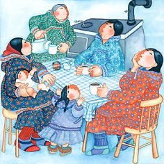 Coffee with the village ladies (missisng all of you much!) Barbara Lavallee