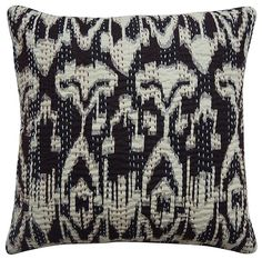 Amazon.com: Ikat Print Kantha Work Cushion Cover: Home & Kitchen