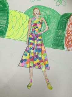 3rd grade fashion design by my student