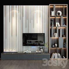 Tv Shelf Design, Wooden Shelf Design, Tv Unit Interior Design, Tv Wall Design, Tv Wall Decor, Wall Tv, Tv Wall Shelves, Armoires Murales Tv, Centro Tv