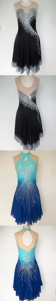 Other Ice Skating 4939: Custom New Figure Ice Skating Dance Dress Costume -> BUY IT NOW ONLY: $185 on eBay!