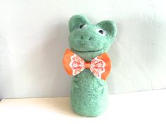 Frog statue frog art animal art frog and toad art by Felt4Soul