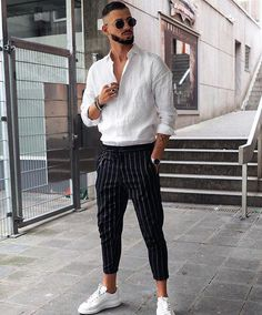 Material: Cotton,PolyesterStyle: CasualLength: Full LengthDecoration: SashesFabr… – Men's style, accessories, mens fashion trends 2020 Dope Fashion, Cool Street Fashion, Sneakers Fashion, Runway Fashion, Men Sneakers, Fashion Photo, Mens Fashion Trends 2019, Classy Outfits, Vintage Outfits
