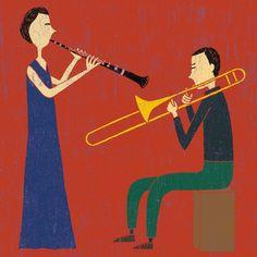 """サノマキコ on Instagram: """"『1月22日はjazzの日🎶』 (2020年「しまたねしゃ四重奏」展示作品)  #サノマキコ #イラスト #イラストレーター #illustration  #illustrator #クラリネット #トロンボーン # #trombone #clarinet #jazzの日…"""" Illustration, Movies, Movie Posters, Instagram, Films, Film Poster, Cinema, Illustrations, Movie"""
