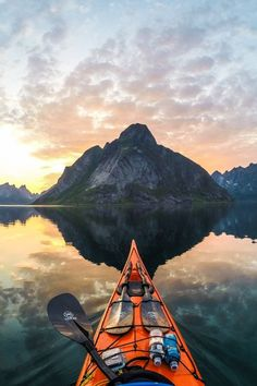 Fjord is a funny word and a great sight. Norway is the fjord capital of the world, and Tomasz Furmanek brings us great pictures of them from his kayak trips. Lofoten, Adventure Awaits, Adventure Travel, Adventure Quotes, Nature Adventure, Canada Winter, Kayak Seats, Norway Fjords, Visit Norway