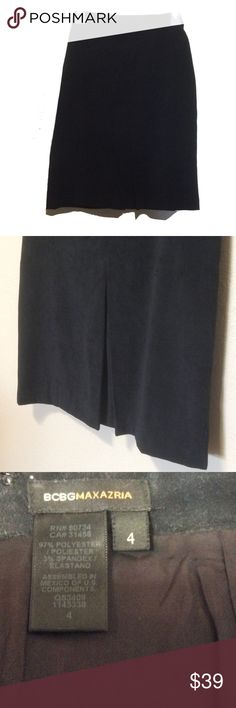 BCBG Vegan suede skirt Gorgeous and in great condition , faux suede, lined, size 4,  22 inches length,  28 inches across BCBGMaxAzria Skirts