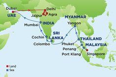 Journey to India, Dubai, Myanmar and Sri Lanka
