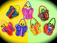 Cassie Stephens: In the Art Room: Kindergarten Clay Butterflies