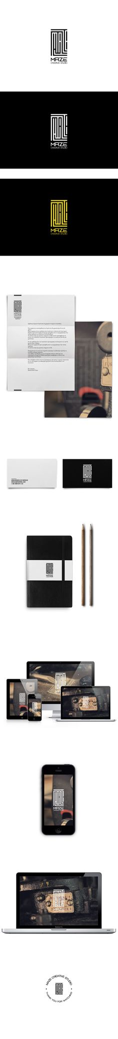 Maze identity by Maze Creative, via Behance