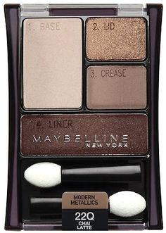 Maybelline Expert Wear Eyeshadow Quads Chai Latte [Drug Store: eyeshadow]