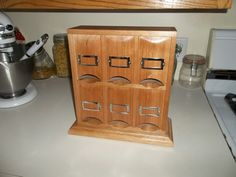 Counter top 6 bay Tea Bag Dispenser  by keminerwoodworking on Etsy
