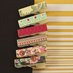 Prima - Rosarian Collection - Canvas Covered Wood Clips at Scrapbook.com $3.99