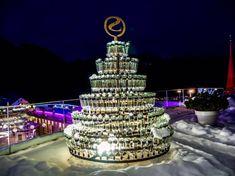 Bottle Tree at STOCK resort #happywinterhave Bottle, Cake, Desserts, Tailgate Desserts, Pie, Flask, Kuchen, Dessert, Cakes