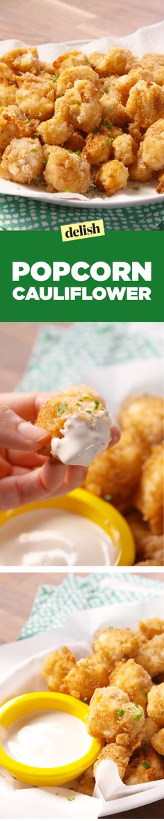 Popcorn cauliflower is the new popcorn chicken and it's way healthier. Get the recipe on Delish.com.