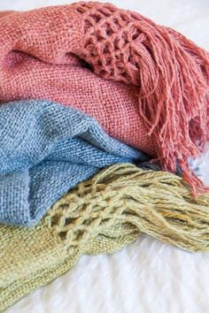 New Puna Throws, pastel summer colours available at Pampa!