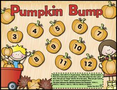 FREE! This fall-themed math and literacy set comes with the following activities: * 1 Pumpkin Bump addition game  * 1 emergent reader * 1 roll and graph game * 1 roll and read phrases game * 1 roll and color addition page * 2 pages that focus on CVC words * 1 fluency phrase game * 1 page of fill-in sight word sentences Each page addresses the math and literacy standards of one of more grades, K-2. Please keep in mind that not every page addresses the material found in all grade levels.