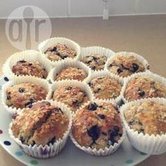 Recipe Picture:No-sugar added banana blueberry wholemeal muffins