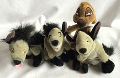 Walt Disney Lion King Hyenas & Timon Shenzi Banzai Ed Plush Toys Lot of 4 #WaltDisneyCo