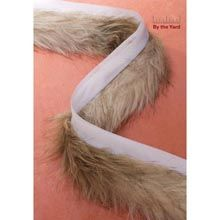 """2"""" FUR W/LIP FZY DOG 8YD Sku: SN421288 BRAND: Simplicity® Simplicity 2"""" Tan Frizzy Dog Faux Fur trim with lip. Add an element of luxury to coats, costumes, boots, hats & more! Machine Washable. Max continuous yardage: 8. Orders over this length require multiple pieces."""